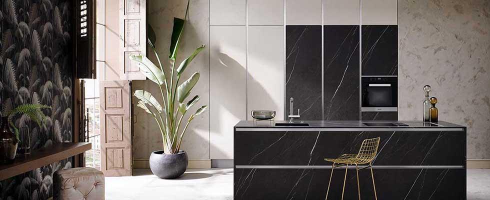 Häcker Küche AV8000 Grafite Stone AV7000 Echtbeton