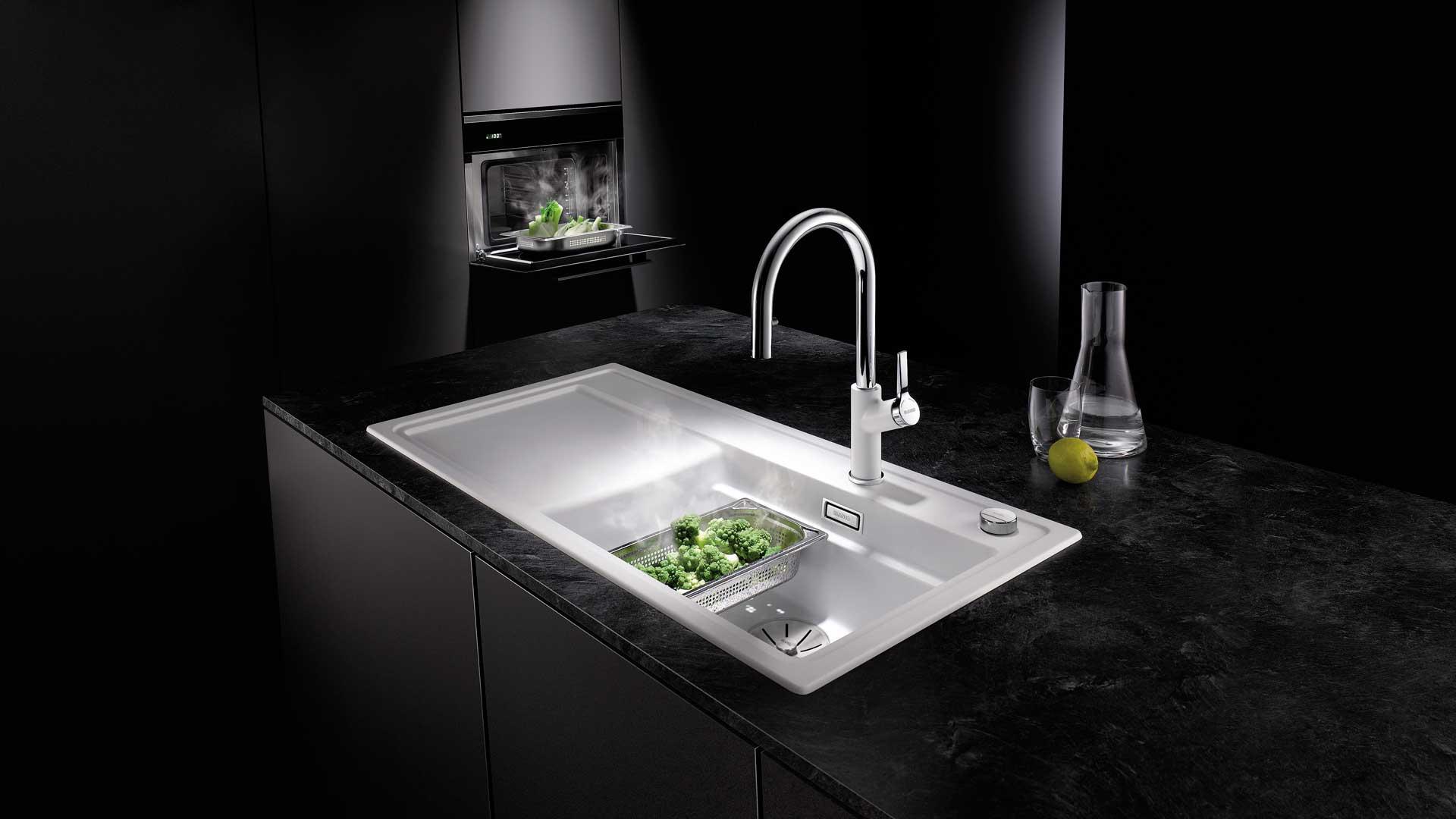Spüle mit Dampfgarerzubehör von Blanco in der Küchenwelt Leoben