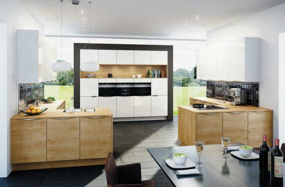 Küche im Materialmix