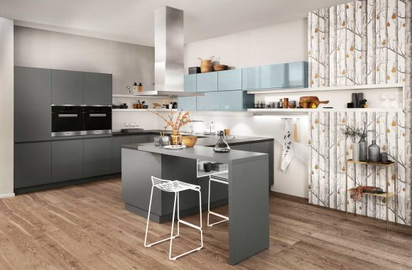 Küchenmodelle Küche Lavagrau