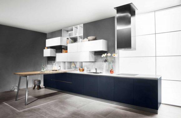 Küchenmodelle Küche Samtblau