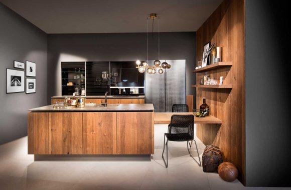 Küchenmodelle Küche Räuchereiche und Industristahl