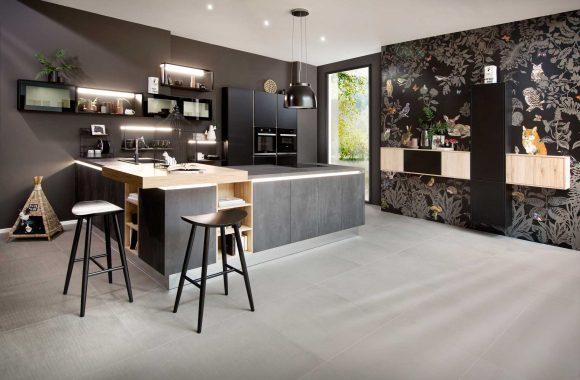 Küchenmodelle Küche Comet Graphit   Laser Soft Schwarz