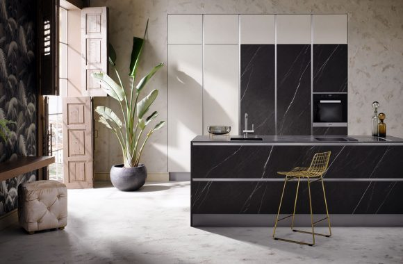 Küchenmodelle Küche Grafite Stone und Echtbeton