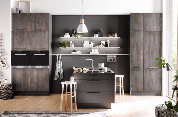 Küchenmodelle Küche Uno Meteor Oxid