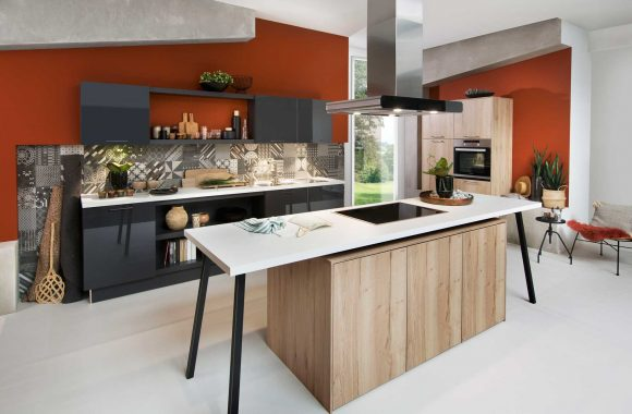 Küchenmodelle Moderne Küche Laser Brilliant Graphit   Toronto Alteiche Sand