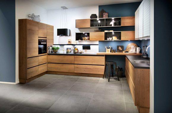 Küchenmodelle Holzküche Alteiche natur