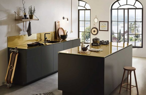 Lechner Küchenrückwand Brass