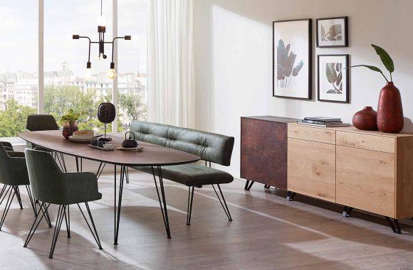 Wildeiche-Esszimmer Möbel von Schösswender