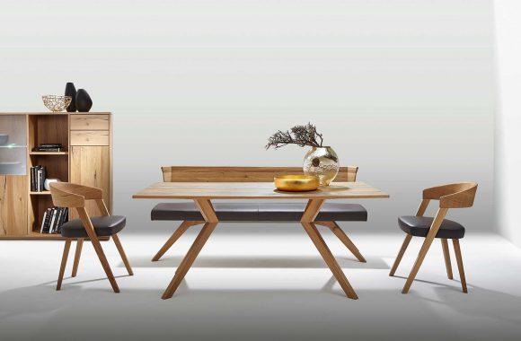 Risseiche-Esszimmer Möbel von Schösswender